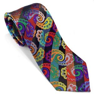 Black Multi-color Paisley Lawrence Ivey New Tie